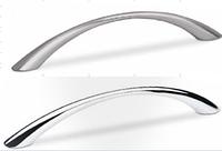 Мебельная ручка, цинковое литье, 96 мм, цвет сталь