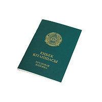 Трудовая книжка, формат А6, зеленая