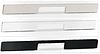 Мебельная ручка алюминий, 400 мм, цвет сталь