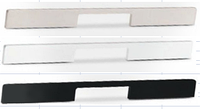 Мебельная ручка  алюминий, 200 мм, цвет черный