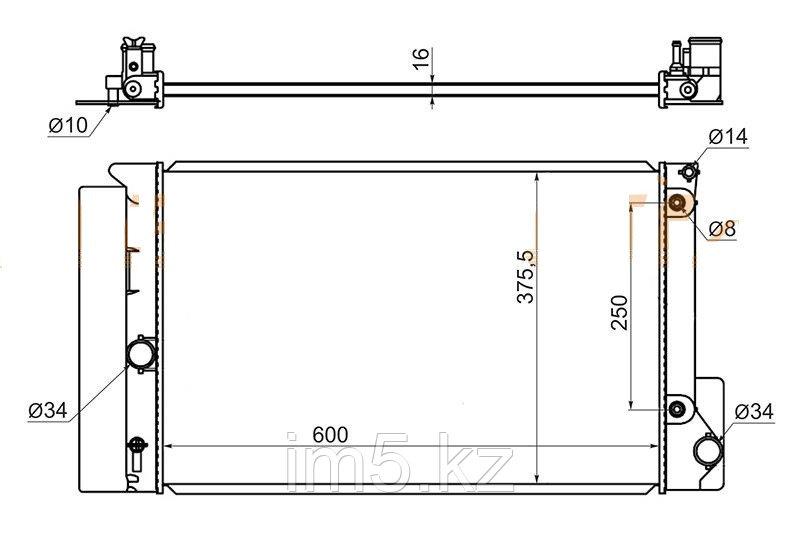 Радиатор TOYOTA COROLLA N#E180/ZRE18# 13-