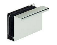 Деталь-ручка для стеклянной двери, сталь хром, фото 1