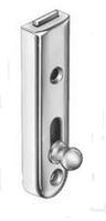 Мебельная задвижка прямая сталь., никелированная,50мм, фото 1
