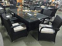 Комплект мебели из искусственного ротанга (стол и восемь кресел) , фото 1