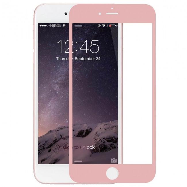 Противоударное защитное 3D стекло на Iphone 6 Plus/6S Plus (розовое)