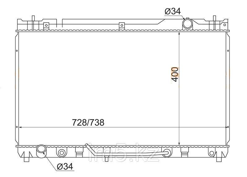 Радиатор TOYOTA CAMRY ACV30 01-06