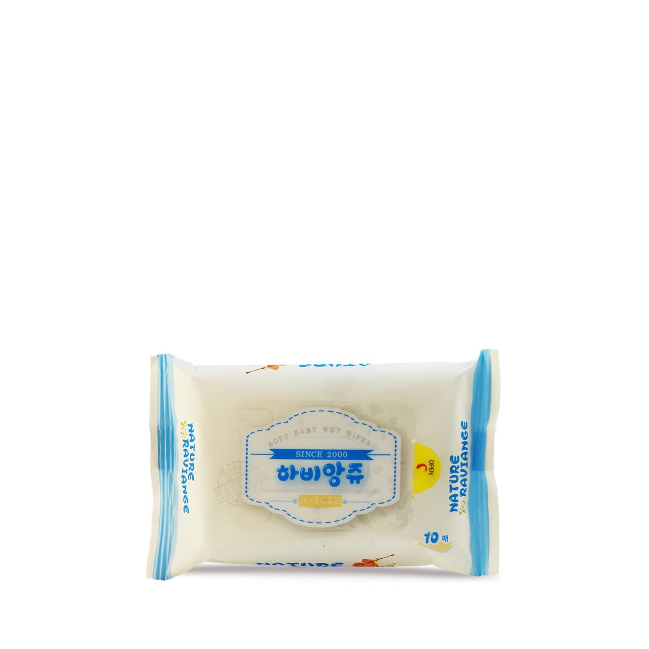 Taewang Влажные детские антибактериальные салфетки премиум класса Mini Clean Baby Wet Wipes / 10 шт.