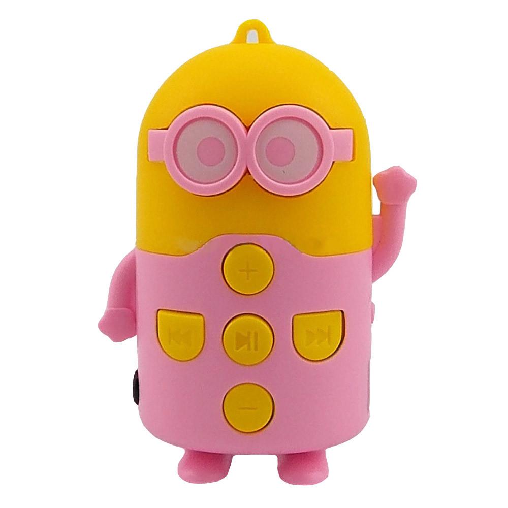 Компактный mp3 плеер Миньон  с поддержкой Micro SD (розовый)