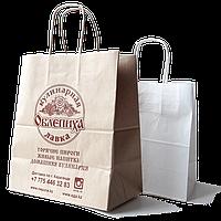 Крафт пакет с логотипом