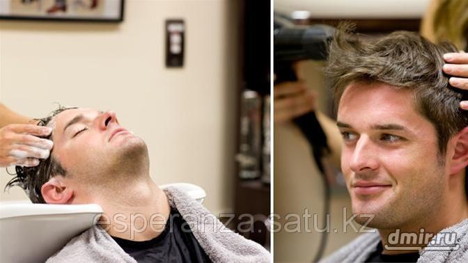 Мытье и сушка волос феном для мужчин