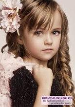 Детская укладка на длинный волос