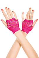 Перчатки в сетку розовые