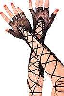 Перчатки сетка на шнуровке