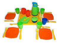 """Набор детской посуды """"Алиса"""" с подносом на 4 персоны"""