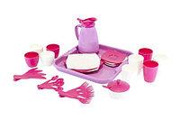 """Набор детской посуды """"Алиса"""" с подносом на 4 персоны Pretty Pink"""