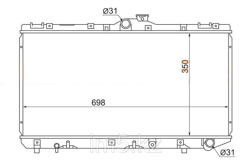 Радиатор TOYOTA SPRINTER #E10# 92-95 4D(дизель)