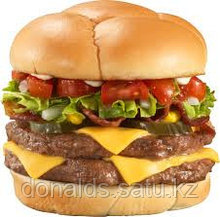 Двойной чизбургер ассорти (курица, говядина)