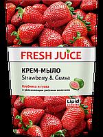 Крем-мыло c молочком  Strawberry Guava  дой пак