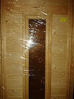Дверь банная из сосны со стеклом (коробка сосна) 180*80