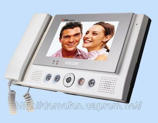 Видео домофон с памятью Kocom KCV-801R +КСМС-20