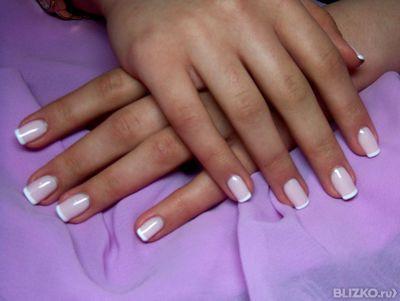 Френч покрытие ногтей