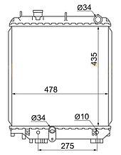 Радиатор TOYOTA DYNA 95-99