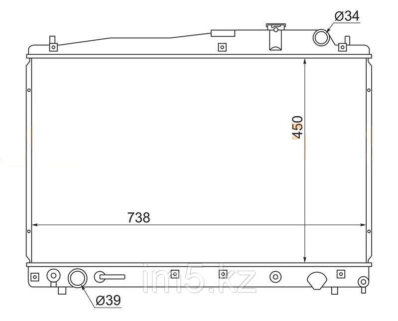 Радиатор TOYOTA ESTIMA ACR30/40 MCR30/40 99-06