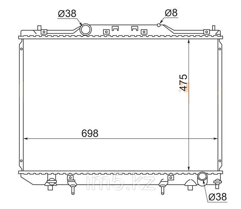 Радиатор TOYOTA IPSUM/PICNIC #XM1# 96-01