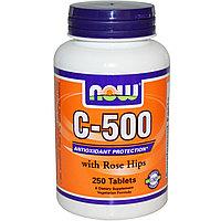 Витамин С   (C-500 с шиповником), 250 таблеток.    Now Foods