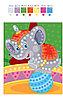 Аппликация из пайеток «Цирковой слон», набор для творчества