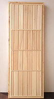 Дверь банная глухая из липы (коробка липа) 180*80