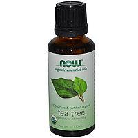 Органическое эфирное масло чайного дерева.  (30 мл).  Now Foods
