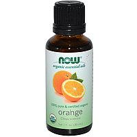 Органические эфирные масла, Апельсин, (30 мл). Now Foods