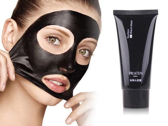 """Маска-пленка косметическая  от прыщей """"Черная маска"""" Pilaten Suction Black Mask, фото 2"""