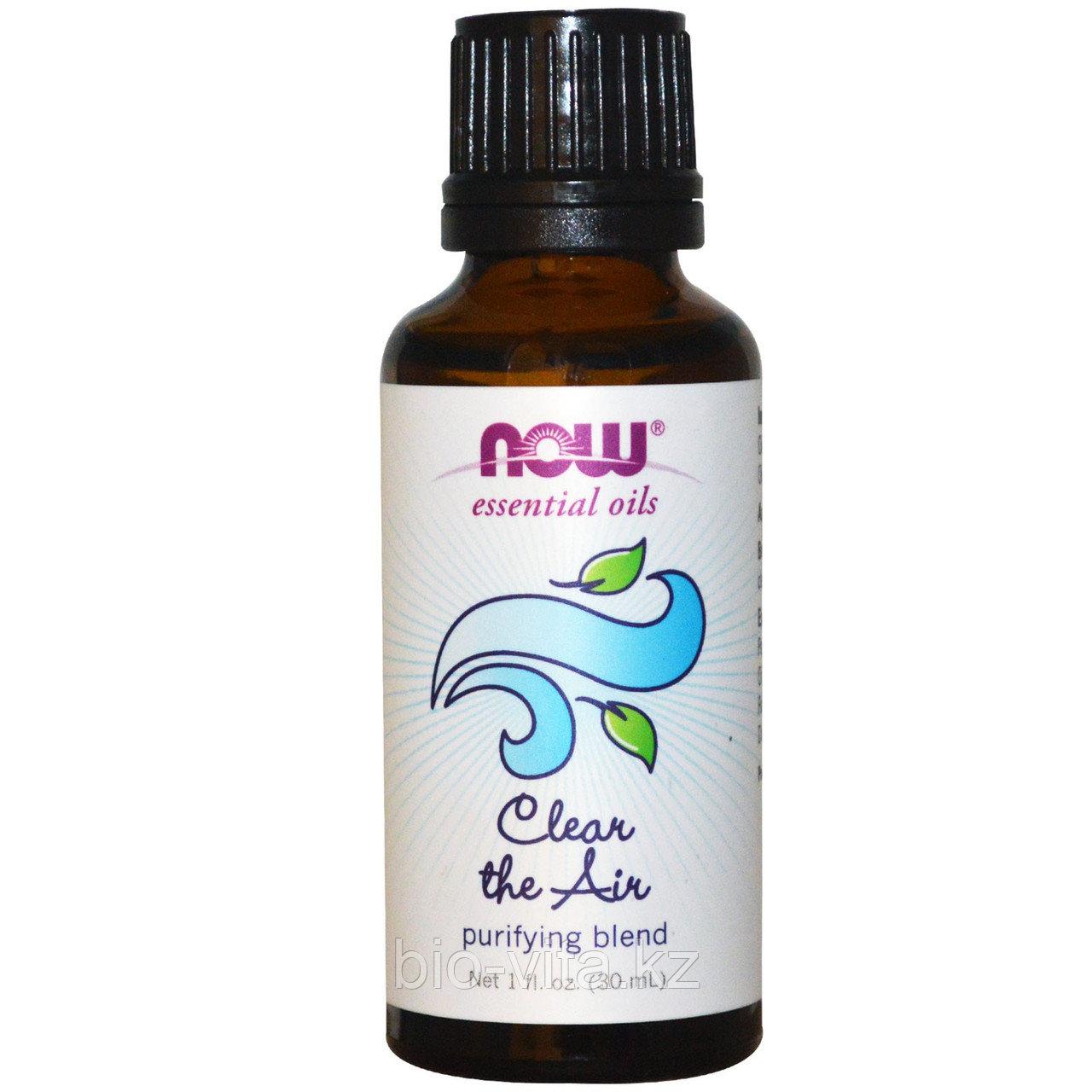Эфирные масла, Очищение воздуха, Очищающая смесь,(30 мл).  Now Foods