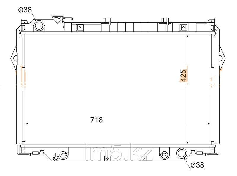 Радиатор TOYOTA LAND CRUISER 80 90-98
