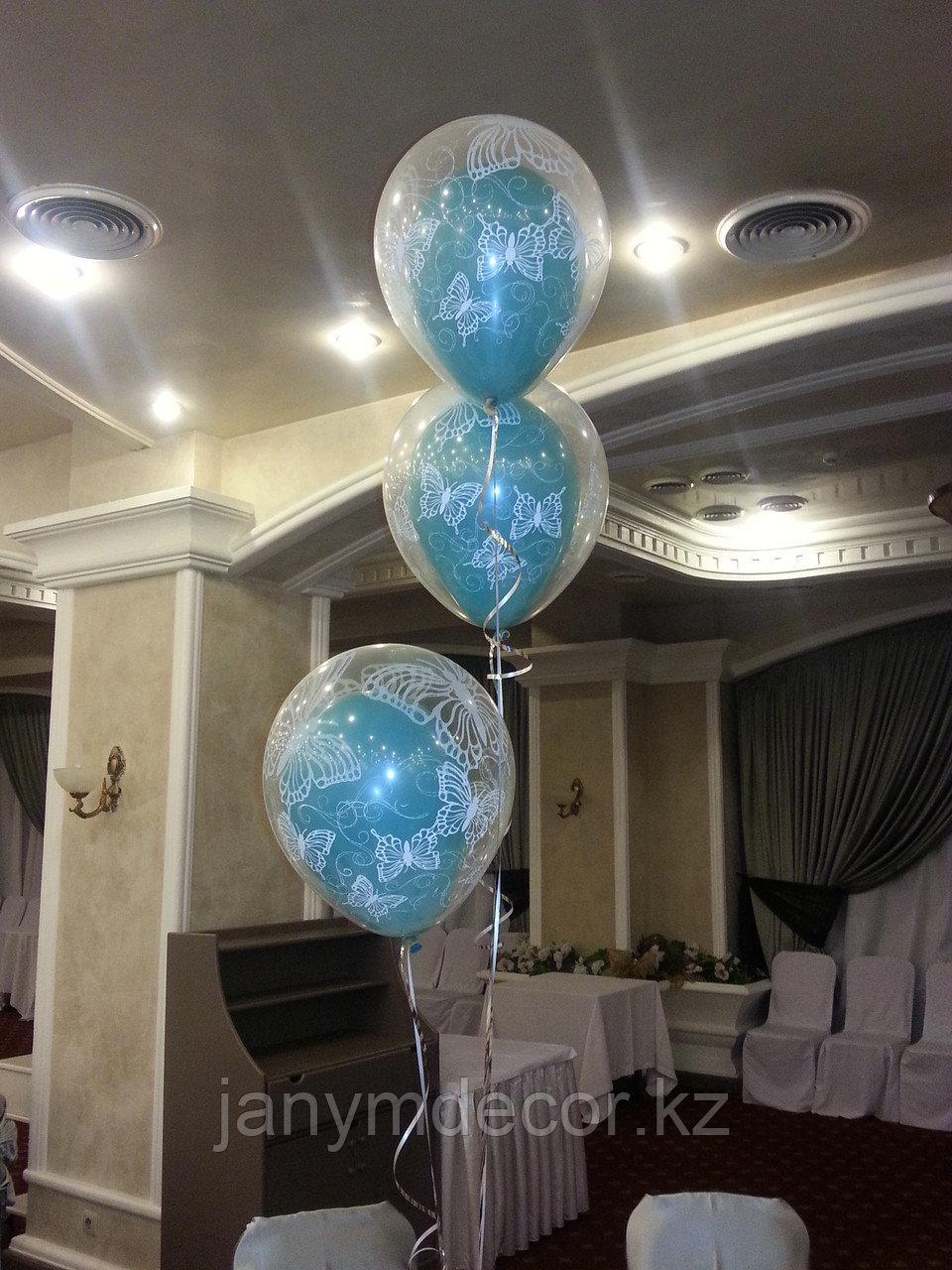 """Гелиевые шары """"шар в шаре"""" - фото 1"""