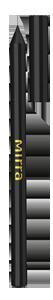 MIRRA Карандаш для глаз - Черный металлик