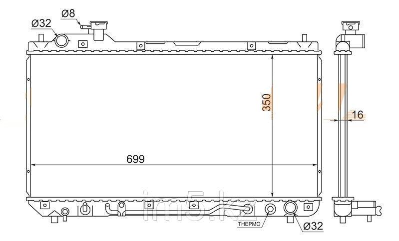 Радиатор TOYOTA RAV4 SXA1# 94-00