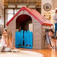 Игровой дом Keter Foldable складной 17202656 Бежевый-красный, фото 1