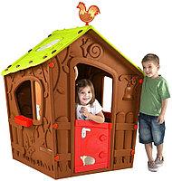 Игровой домик ВОЛШЕБНЫЙ С ПЕТУШКОМ коричневый 17185442 KETER , фото 1