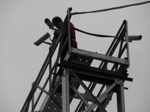 Установка IP-камер Beward BD4330 в термокожухе