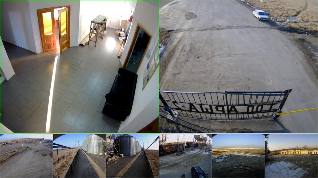 Изображение с IP-камер установленных на объекте