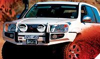 Бампер для Toyota Land Cruiser Prado 120  DELUXE на модель с подкрылками