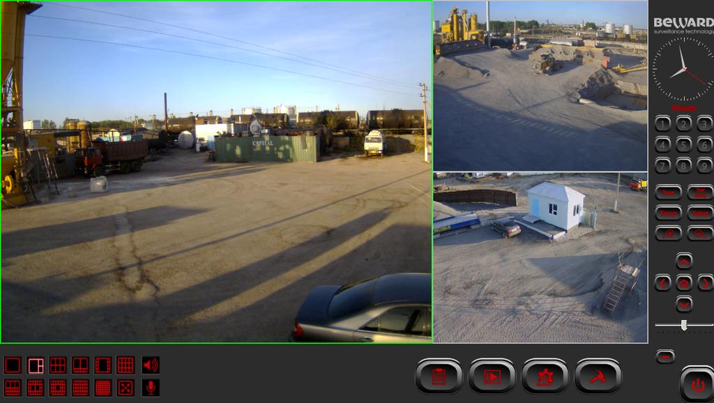 Изображение с IP-камер Beward установленных на объекте
