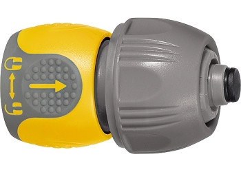 Соединитель для шланга универсальный, аквастоп, двухкомпонентный PALISAD LUXE