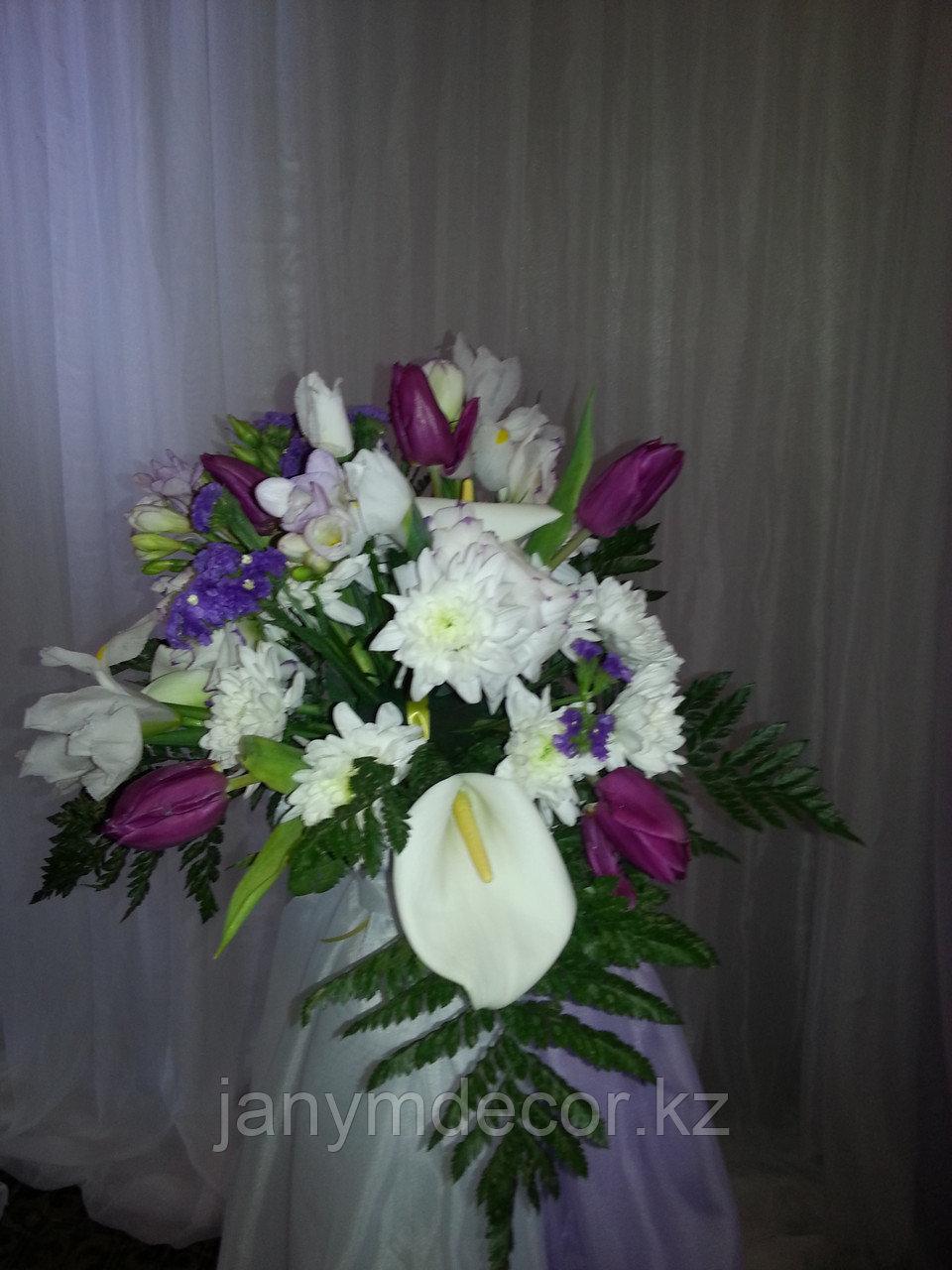 Оформление живыми цветами в Алматы - фото 2