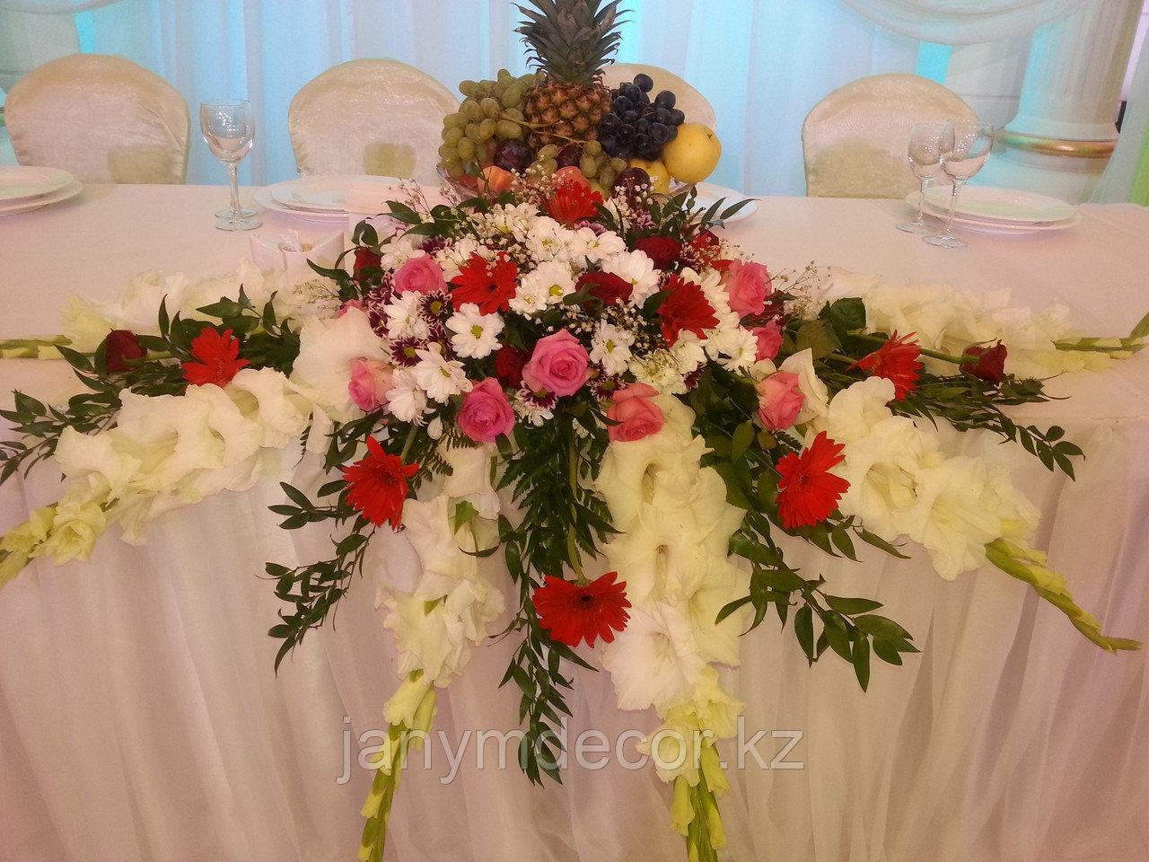 Оформление живыми цветами в Алматы - фото 4