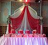 Оформление свадьбы в малиновом цвете, ресторан Баракат