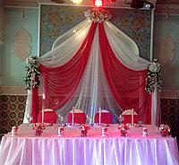 Оформление свадьбы в малиновом цвете, ресторан Баракат, фото 1